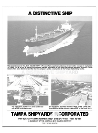 Maritime Reporter Magazine, page 21,  Dec 1985 TAMPA SHPYARDS INCORPORATED
