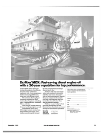 Maritime Reporter Magazine, page 31,  Dec 1985 diesel engine oil