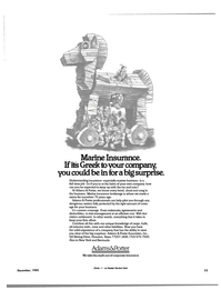 Maritime Reporter Magazine, page 53,  Dec 1985 Marine insurance brokerage