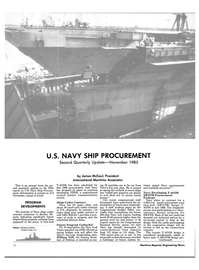 Maritime Reporter Magazine, page 70,  Dec 1985 Department of Defense