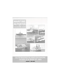 Maritime Reporter Magazine Cover Jan 1986 -