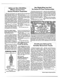 Maritime Reporter Magazine, page 16,  Jan 15, 1986