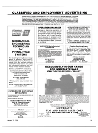 Maritime Reporter Magazine, page 33,  Jan 15, 1986