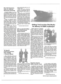 Maritime Reporter Magazine, page 6,  Jan 15, 1986 Aalborg Yard Launches Third Reefer For Delivery To USSR