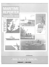 Maritime Reporter Magazine Cover Feb 1986 -