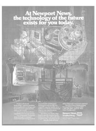 Maritime Reporter Magazine, page 37,  Feb 1986 Newport News shipbuilding