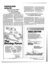Maritime Reporter Magazine, page 66,  Apr 1986 DRIVING FORCE