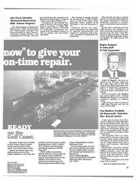 Maritime Reporter Magazine, page 13,  May 1986