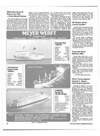 Maritime Reporter Magazine, page 16,  May 1986
