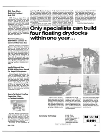 Maritime Reporter Magazine, page 43,  May 1986