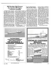 Maritime Reporter Magazine, page 87,  Jun 1986