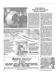 Maritime Reporter Magazine, page 94,  Jun 1986