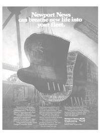 Maritime Reporter Magazine, page 17,  Aug 1986 Newport News shipbuilding