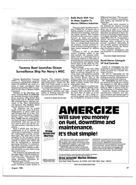 Maritime Reporter Magazine, page 35,  Aug 1986