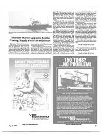 Maritime Reporter Magazine, page 37,  Aug 1986