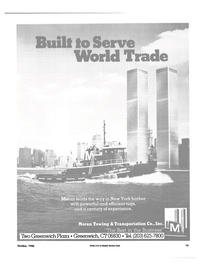 Maritime Reporter Magazine, page 13,  Oct 1986 Moran Towing & Transportation Co. Inc.