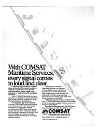 Maritime Reporter Magazine, page 15,  Oct 1986 shipboard communications