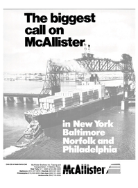 Maritime Reporter Magazine, page 1,  Oct 1986 Reader Service Card McAllister Brothers Inc.