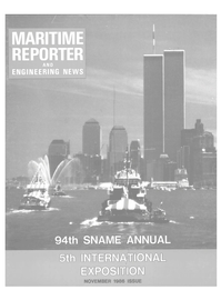 Maritime Reporter Magazine Cover Nov 1986 -