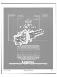 Maritime Reporter Magazine, page 15,  Nov 1986 Limitorque Corporation