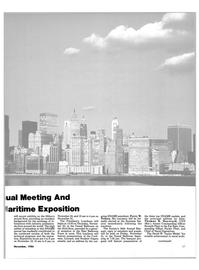 Maritime Reporter Magazine, page 23,  Nov 1986 East Ballroom Foyer