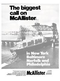 Maritime Reporter Magazine, page 1,  Nov 1986 McAllister Brothers Inc.