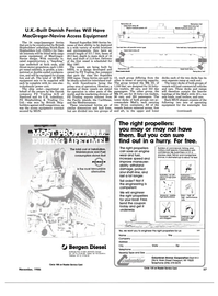 Maritime Reporter Magazine, page 53,  Nov 1986