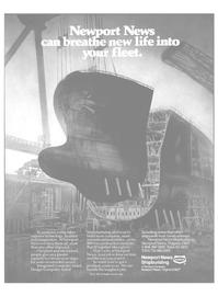 Maritime Reporter Magazine, page 55,  Nov 1986 Newport News shipbuilding