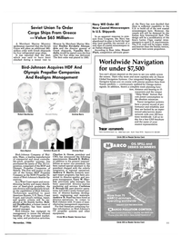 Maritime Reporter Magazine, page 81,  Nov 1986