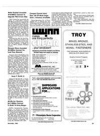 Maritime Reporter Magazine, page 83,  Nov 1986 Massachusetts