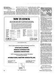 Maritime Reporter Magazine, page 86,  Nov 1986