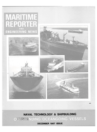Maritime Reporter Magazine Cover Dec 1987 -