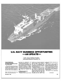 Maritime Reporter Magazine, page 25,  Dec 1987 U.S. Navy