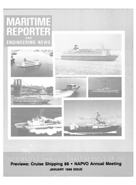 Maritime Reporter Magazine Cover Jan 1988 -