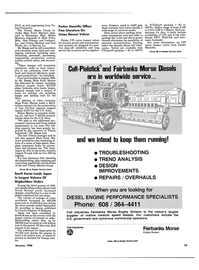 Maritime Reporter Magazine, page 51,  Jan 1988 Colt Industries Fairbanks Morse Engine Division