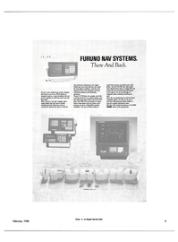 Maritime Reporter Magazine, page 1,  Feb 1988 D FURUNO NAV SYSTEMS