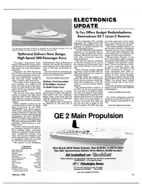 Maritime Reporter Magazine, page 49,  Feb 1988 Mercedes-Benz Generators Stamford