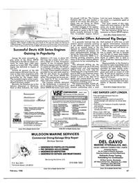 Maritime Reporter Magazine, page 63,  Feb 1988