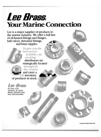 Maritime Reporter Magazine, page 19,  Mar 1988 Lee Brass Your Marine Connection Lee