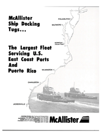 Maritime Reporter Magazine, page 1,  Mar 1988 McAllister Brothers Inc.