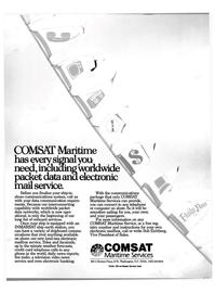Maritime Reporter Magazine, page 1,  Jun 1988 COMSAT Maritime Service