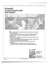 Maritime Reporter Magazine, page 3,  Jun 1988 Avondale Industries Inc.