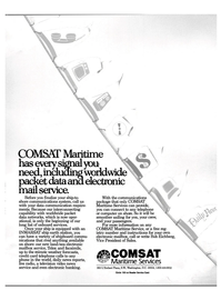 Maritime Reporter Magazine, page 1,  Aug 1988 COMSAT Maritime Service