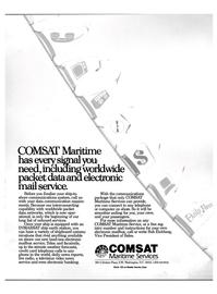 Maritime Reporter Magazine, page 1,  Aug 1988 COMSAT Maritime Service