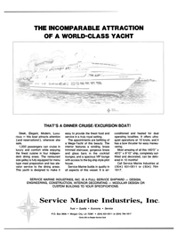 Maritime Reporter Magazine, page 3rd Cover,  Aug 1988 Call Service Marine Industries