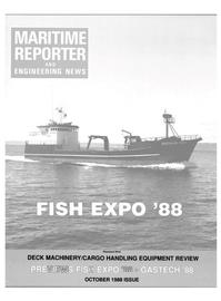 Maritime Reporter Magazine Cover Oct 1988 -