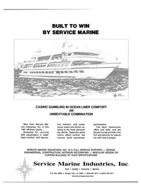 Maritime Reporter Magazine, page 3rd Cover,  Oct 1988 Service Marine Industries Inc Trust
