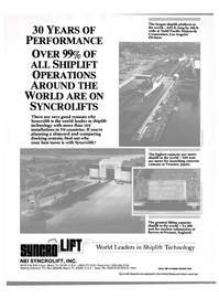 Maritime Reporter Magazine, page 16,  Nov 1988 shiplift technology