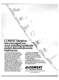 Maritime Reporter Magazine, page 1,  Nov 1988 COMSAT Maritime Service