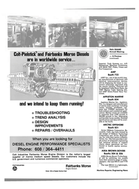 Maritime Reporter Magazine, page 28,  Nov 1988 Colt Industries Fairbanks Morse Engine Division